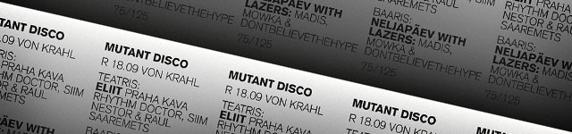 Mutant Disco vs. Neljapäev with Lazers